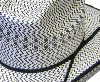 The 500X 8 Second Two-Tone Shantung Black White Straw Cowboy Hat is a stunning show stopper cowboy hat for any western rodeo or cowboy wedding look. This hat is a high quality 500x shantung straw with an 8 second crown.