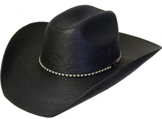 This Fine Sahuayo Palm Truman 1000X Black Straw Cowboy Hat is a high quality 1000x straw hat made of black fine palm straw. Thick 1 thousand X genuine sahuayo straw weaved together for a western sensational cowboy hat.
