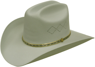 Adult Cattleman Straw Grey Cowboy Hat