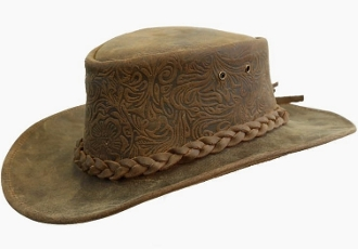 Quot Spainard Quot Tooled Leather Western Hat By Kakadu