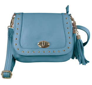 The Swan Studded Tassel CCW Concealed Carry Blue Western Purse is perfect for any womens concealed gun needs because it comes with a holster for no printing