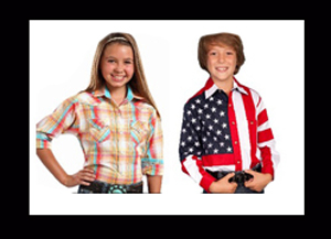 The largest selection of the best kids western shirts for all sizes of kids who love to wear cowgirl and cowboy shirts. Retro western shirts for kids in vintage styles that are hard to find and we have them all.