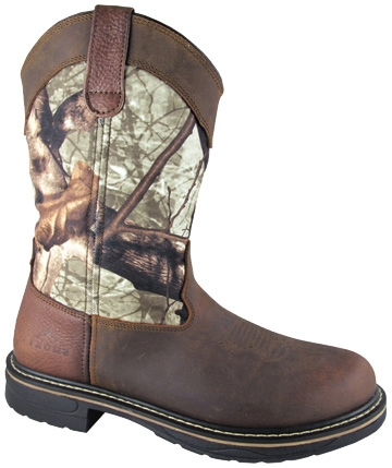 "These ""STAG"" True Timber EH RATED Mens Cowboy boots are electrical hazard work boots for being safe with a steel shank and shock absorbing sole. These mens western work boots wicks away moisture and odor."