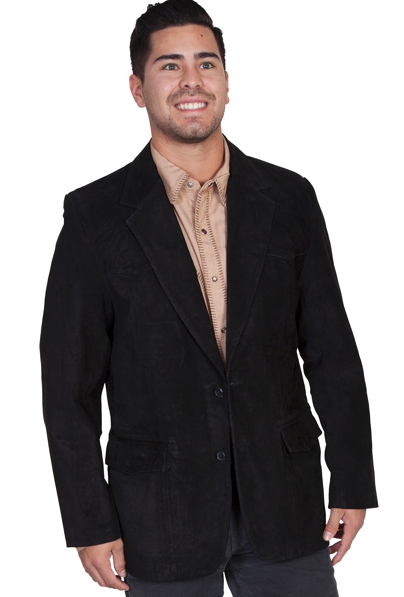 Scully Mens Black Lambskin Suede Western Blazer , cowboy jacket, cowboy coats, cowboy blazers, western jackets for men, western blazer, western coats, scully blazers, scully coats, scully