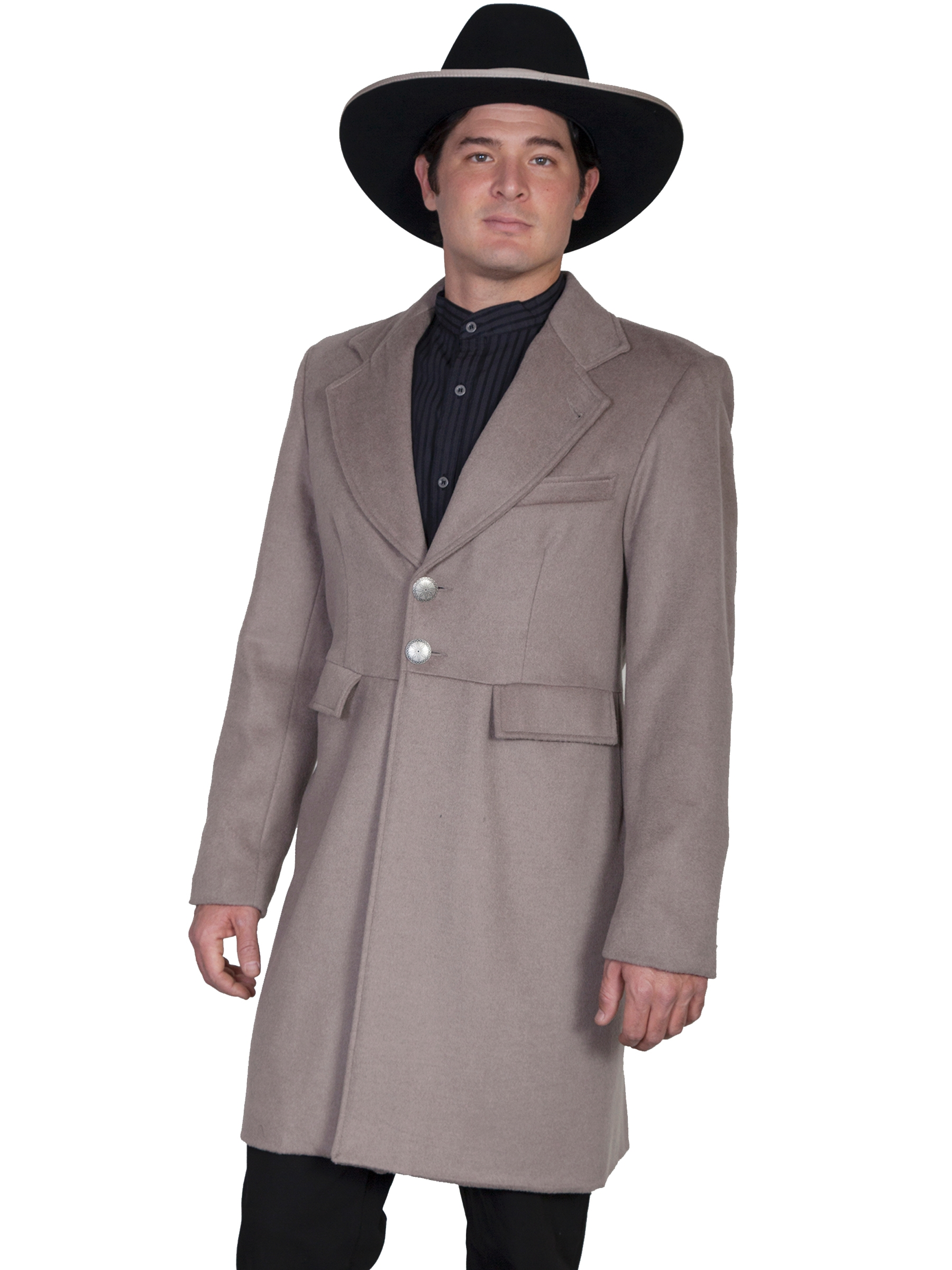 Mens Scully USA Made 3/4 Long Dove Gray Wool Frock Coat, western blazers for men, mens wedding western, mens wedding western apparel,