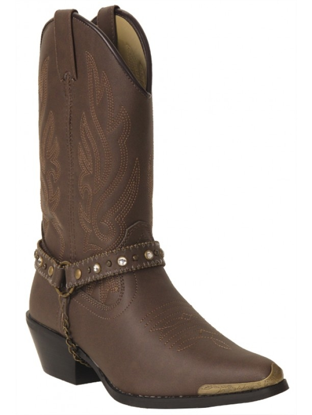 """Charlotte"" Womens black fashion cowboy boots"