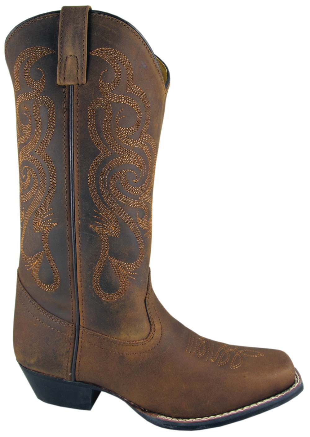 "Lariat"" Distressed leather womens cowboy boots"