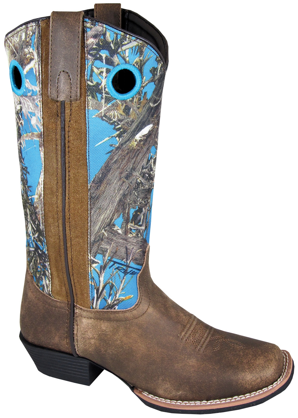 Womens Square Toe True Timber blue Camo Cowboy Boots