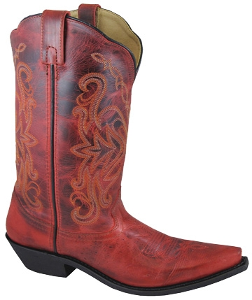 """Red Madison"" Womens Snip toe Red cowboy boots"