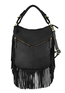 """Tammy"" Black Concealed Carry Fringe Western Purse is perfect for any womens concealed gun needs"