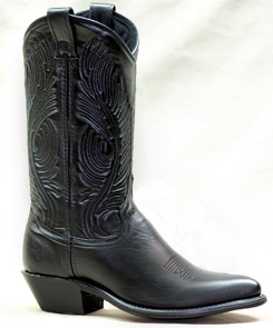 Black leather western cowgirl boots USA made, cowboy boots, cowboy boots for women, ladies cowboy boots, womens cowboy boots