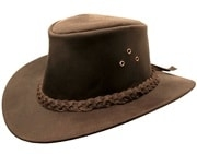 "Kakadu ""Iron Cove"" Brown Leather Western Hat, mens cowboy hat, cowboy hat for men, leather western hat, leather cowboy hats for sale, black leather cowboy hat, brown leather cowboy hat, cowboy hat"