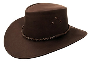 """Packer"" Black or Brown Buffalo leather cowboy hat by Kakadu, womens cowboy hat, mens cowboy hat, cowboy hat for men, leather western hat, black leather cowboy hat, brown leather cowboy hat, cowboy hat"