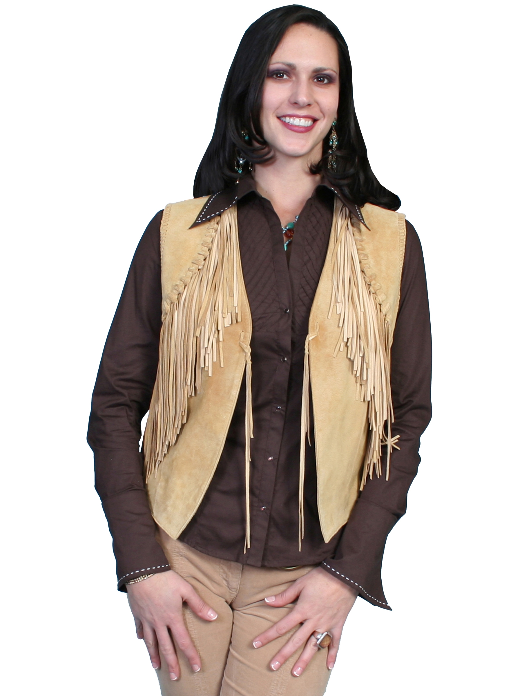 scully western vest, western suede vest, tan suede vest, suede western jacket, western ladies vest, suede scully vest for ladies, womens western jacket, scully vest