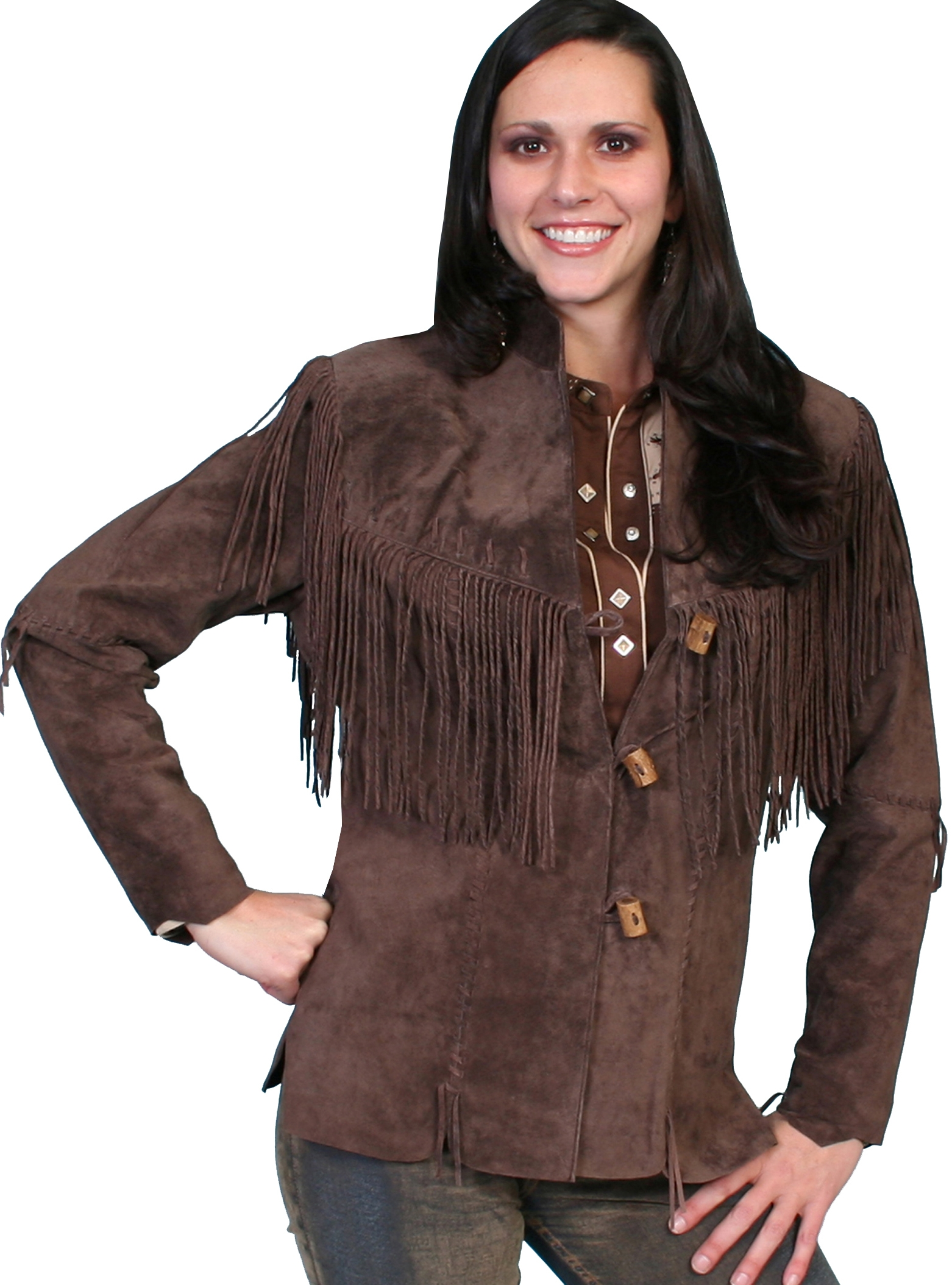 Womens western coats, womens fringe jackets, fringe coats for women