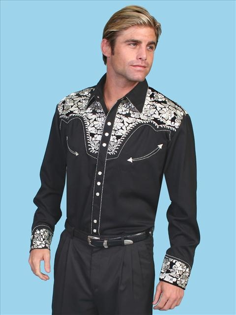 Pearl Snap Western Shirts For Men