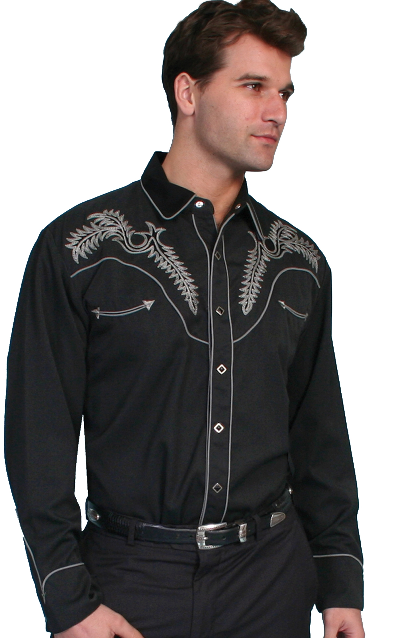 Scully mens western shirt, scully mens, mens scully, western shirt for men, scully shirt for men, cowboy shirt, retro western shirt, vintage shirt, mens vintage shirts, black western shirt