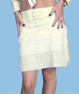 Ladies Short Ivory western skirt by Scully, short western skirt, ladies western skirt, western skirt, womens western skirt, ladies skirts for western dance, western skirt dresses, short western skirts, country western skirts, western skirts for women