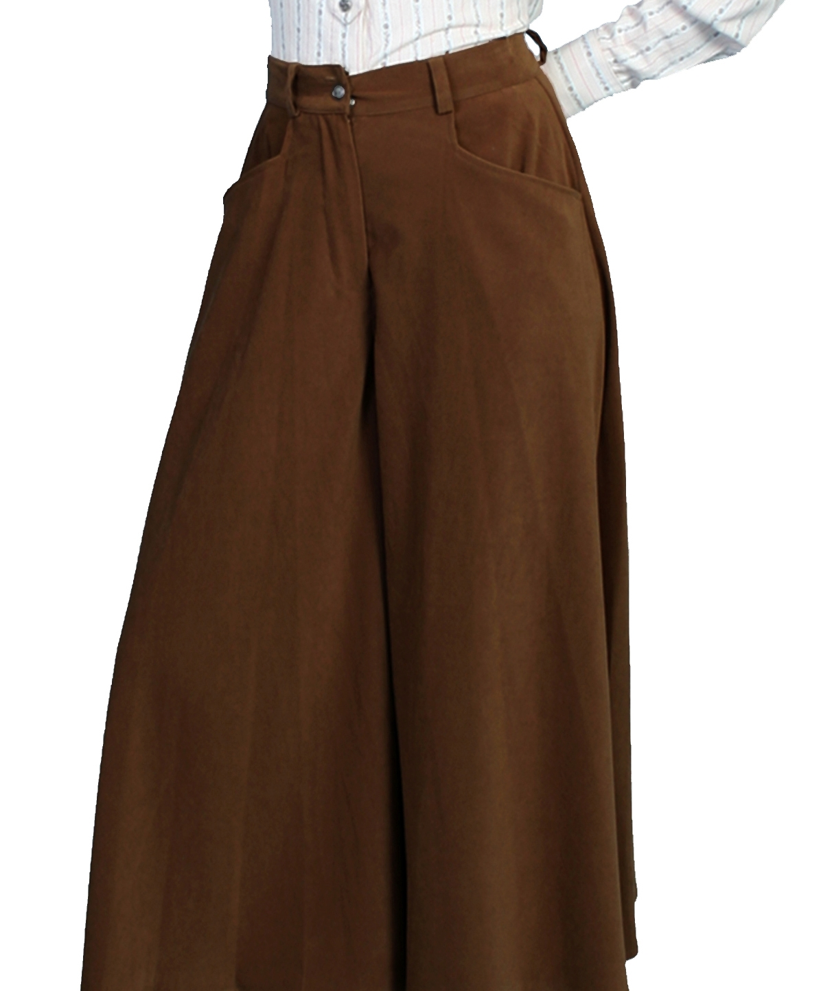 Scully Womens black split skirt riding pants, riding pants for women, western riding pants, split skirt western pants