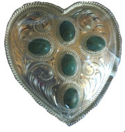 Alpaca Silver and Turquoise Heart Belt Buckle, silver heart buckle, silver belt buckles,silver belt buckles, belt buckles for women, belt buckles for men, silver belt buckles, silver belt buckles women,