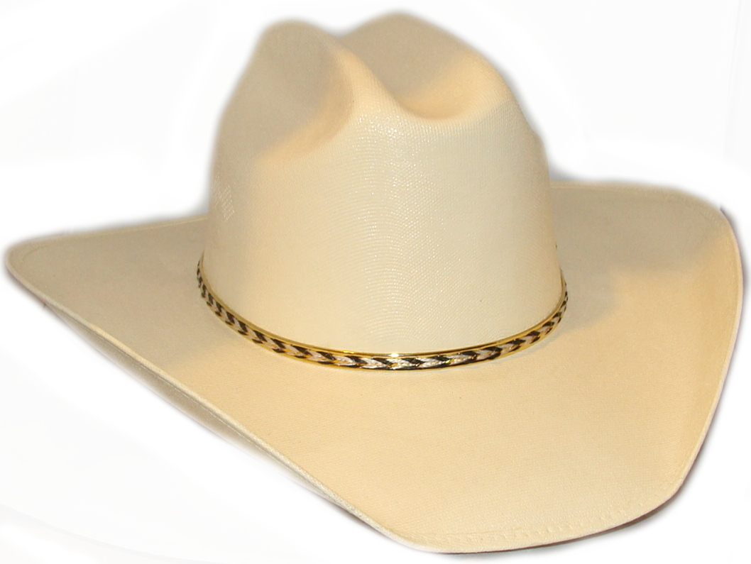 Canvas Gold Banded Cream Adult Cattleman cowboy hat 11cfae0a20d
