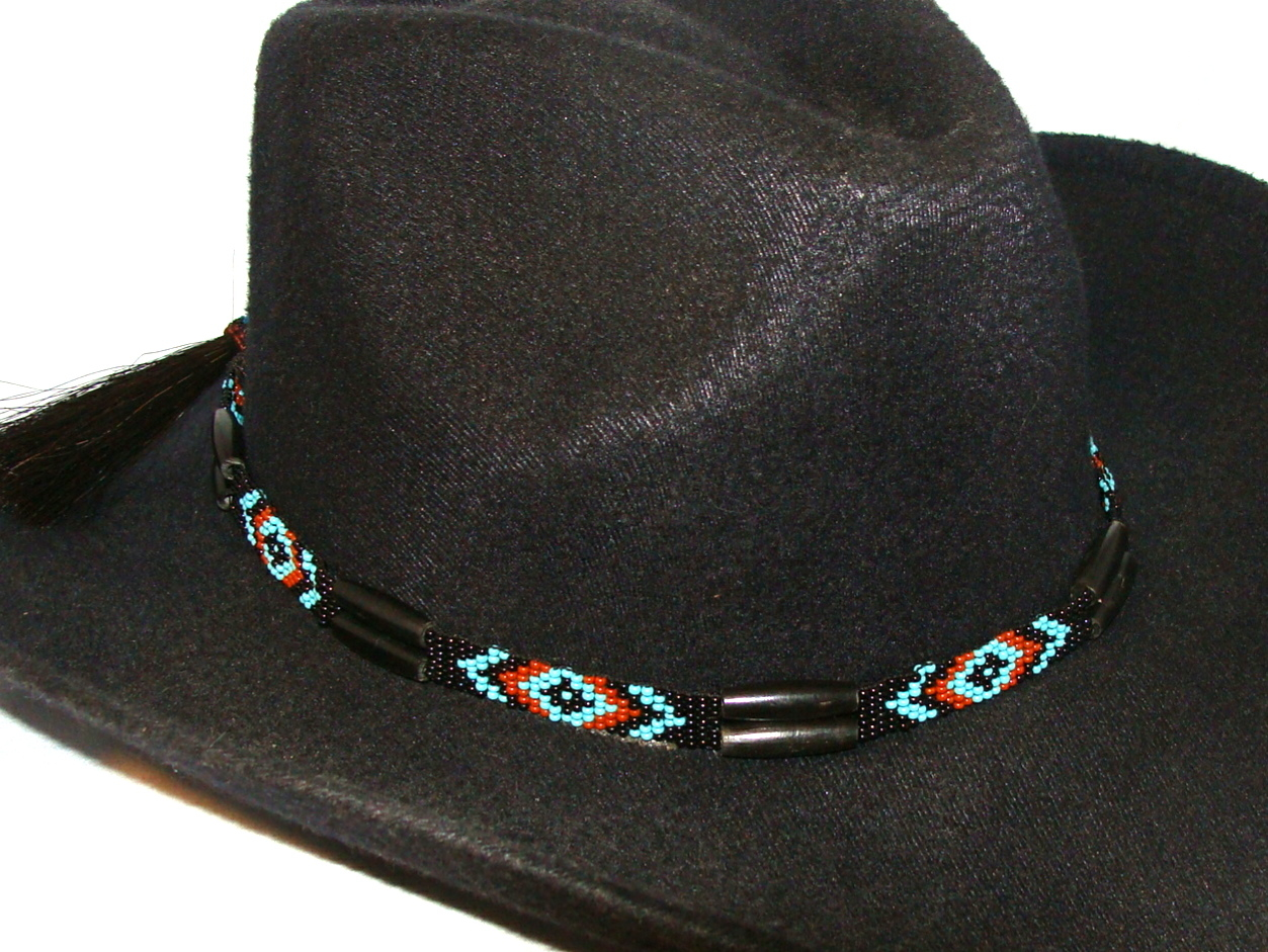 store beaded wolf on bands style deer hat native inspired hide band american