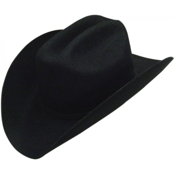 Adult 100% Black Wool Cattleman Taco Cowboy Hat, Wool Cattleman Cowboy Hat,4X Black Wool Cowboy Hat, raw edge cowboy hat, black wool cowboy hat