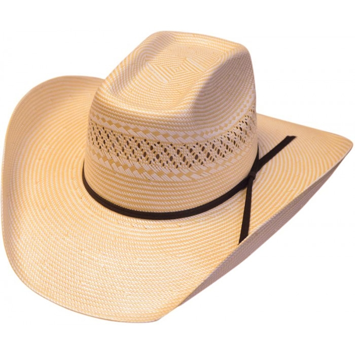 500X 8 Second Two-Tone Shantung Straw Cowboy Hat 29d9d21f798