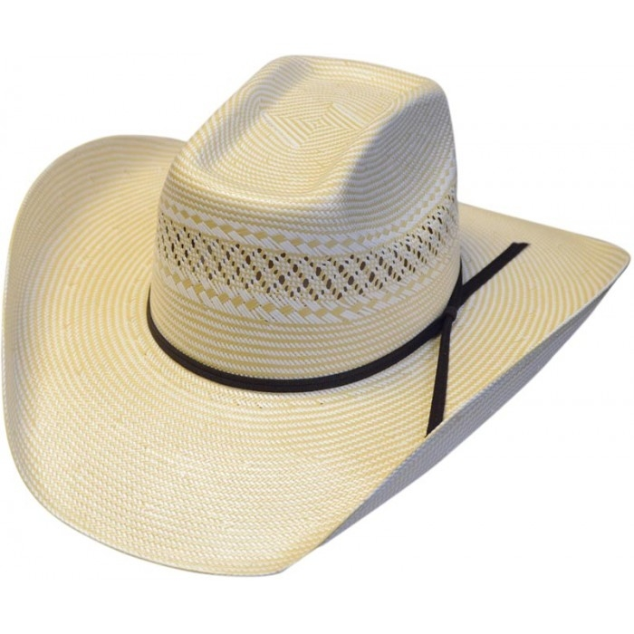 500X 8 Second Two-Tone Shantung Straw Cowboy Hat