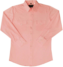 This Mens Pearl snap pink western shirt is a great all around western pearl snap shirt for men with a cowboy look and western point yokes which makes this a perfect mens western rodeo or wedding shirt.