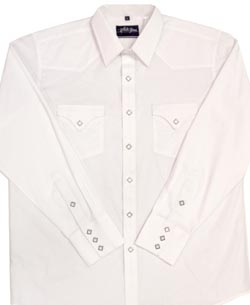 This Mens Diamond Pearl Snap White Western Shirt has the vintage style classic western pockets from the retro 50's with matching red diamond pearl snaps a favorite for all cowboys and western fans.