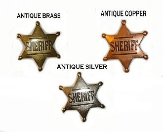 Sheriff badge, western badge, silver sheriff badge, old time sheriff badge, gold sheriff badge, toy sheriff badge, metal sheriff badge