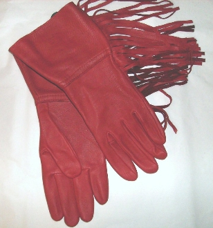 Red western gloves, red fringe gloves, red cowboy gloves, leather western gloves, deerskin leather gloves, red rodeo gloves, red cowboy rodeo gloves, fringe western gloves, western glove