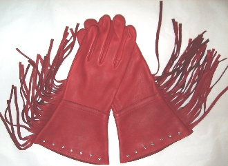 Red western gloves, red fringe gloves, red cowboy gloves, leather western gloves, deerskin leather gloves, red rodeo gloves, red cowboy rodeo gloves, fringe western gloves