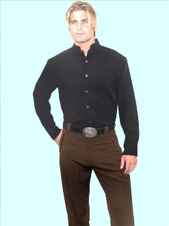 Mens Brown Western dress pants with smile pockets