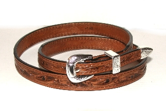 This Brown tooled leather Silver buckle cowboy hat band is hand made in the USA with genuine leather and a sterling silver belt buckle closure a great western hat band for cowboys or cowgirls.