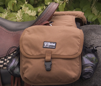 Deluxe Horse Saddle Bags With Bottle Holders Insulated Side