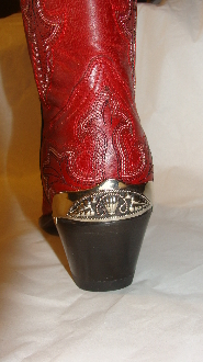 These Vine filigree Silver Cowboy boot heel guards have are silver plated full coverage for the back of your western cowboy boot with a one size fits most back heel guard.