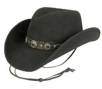 "Bailey lite felt ""Ace"" Crushable cowboy hat, cowboy hat, Bailey Crushable cowboy hat, black crushable cowboy hat, black bailey hat, bailey cowboy hat"