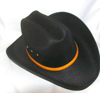 """Toddler Black Taco"" Faux Felt cattleman cowboy hat - 6 1/4, baby straw hat, straw hat for kids, Newborn child cowboy hat, newborn child straw hat, child cowboy hat, straw baby cowboy hat,"