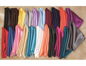 "USA MADE Western Rayon neck scarves 30"" x 30"" made in multiple colors fore men or women, a great western rodeo accessory add on for any cowboy outfit. Comes in red orange yellow white black white black gray turquoise pink"