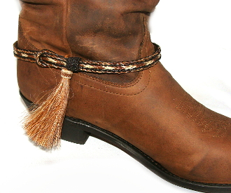 PAIR- Horse hair tassel boot bracelets USA MADE