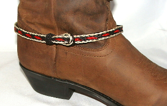 PAIR- Black, Red, Blond, Horse hair boot bracelets USA MADE