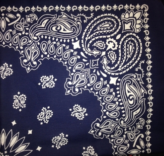 These USA made bandanas Paisley are 100% Cotton breathable and washable in a large 22 x 22 inch square size. Use it over your face mask for a bandit look or to protect against dust. The bandanas can be rolled up,