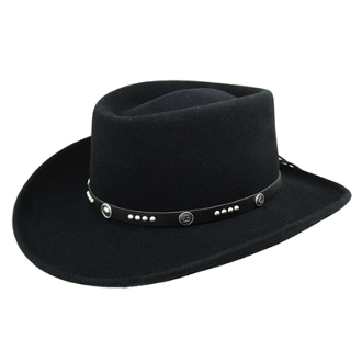 """Joker"" Black wool Bailey USA MADE Cowboy hat"