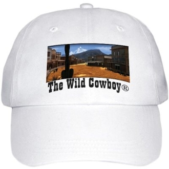 """The Wild Cowboy"" White Western baseball cap"