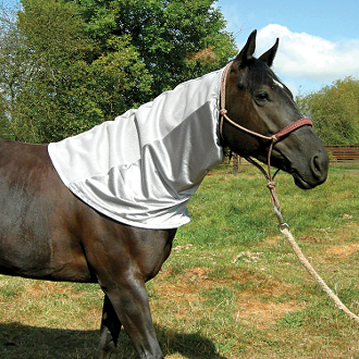 horse neck guard, equine neck guard, net for horses neck, horse bug protection, horse neck cover, uv protection for horses, uv for your horse