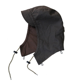 Oilskin hood attachment for Kakadu dusters