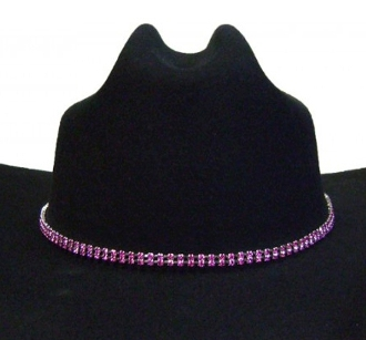 Pink cowboy hat bands, pink western hat bands, pink crystal hat bands, pink hat bands, crystal hat bands, girls cowboy hat bands, silver hat bands, cowgirl hat bands