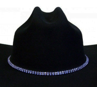 Royal Blue Rhinestone cowboy hat band, girls cowboy hat bands, silver hat bands, cowgirl hat bands